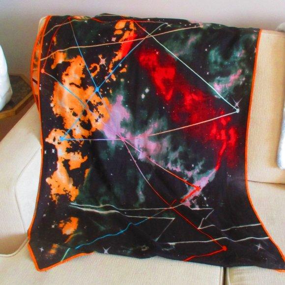 Fall Blanket Scarf Celestial Galaxy Pattern NEW